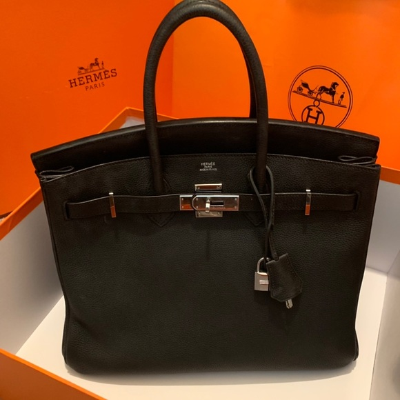 1da1474cdc61 Authentic HERMES Togo Birkin 35 Black